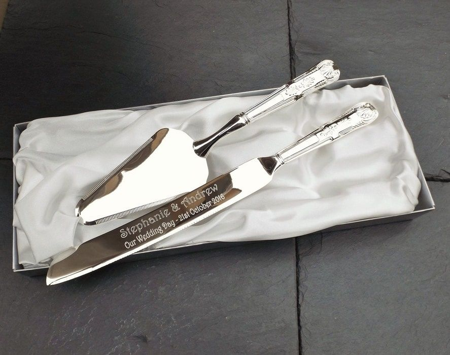Personalised Cake Knife And Server