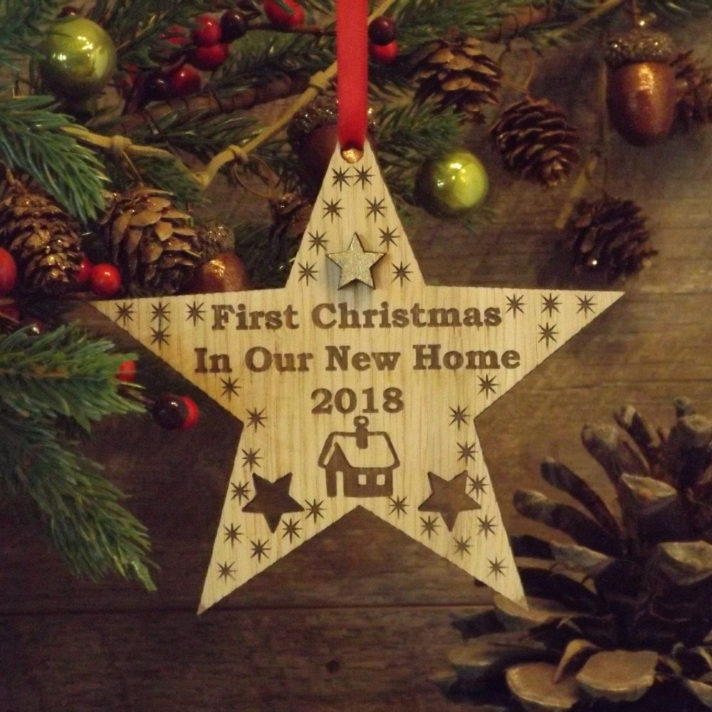 First 1st christmas in our new home star decoration for New home christmas decoration