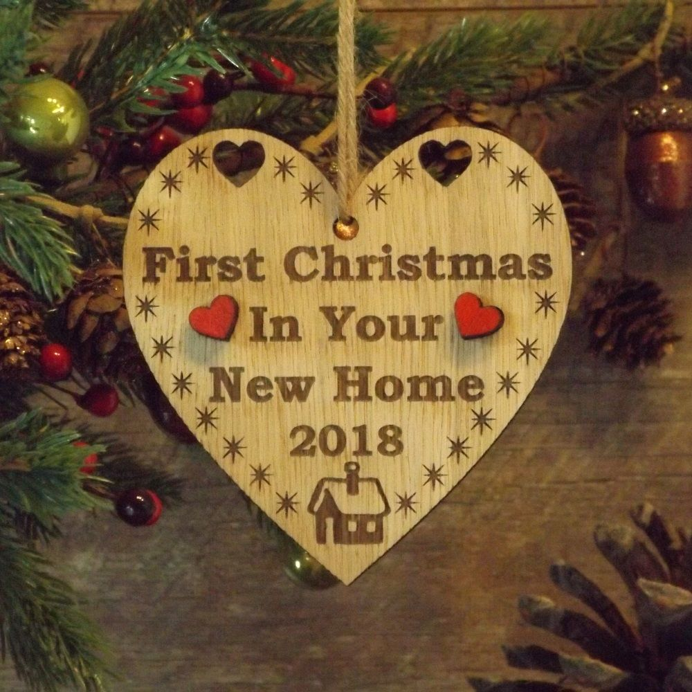 First 1st christmas in your new home heart decoration for Heart decorations home