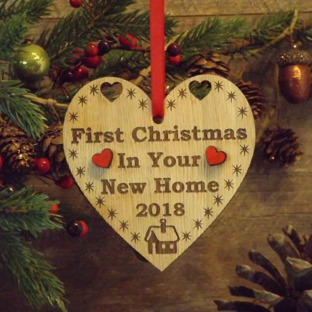First 1st Christmas in Your New Home Heart Decoration Housewarming ...