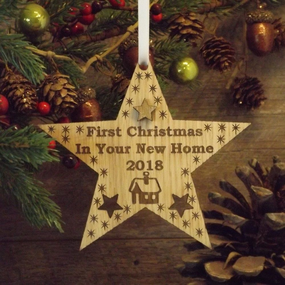 First 1st christmas in your new home star decoration for New home christmas decoration