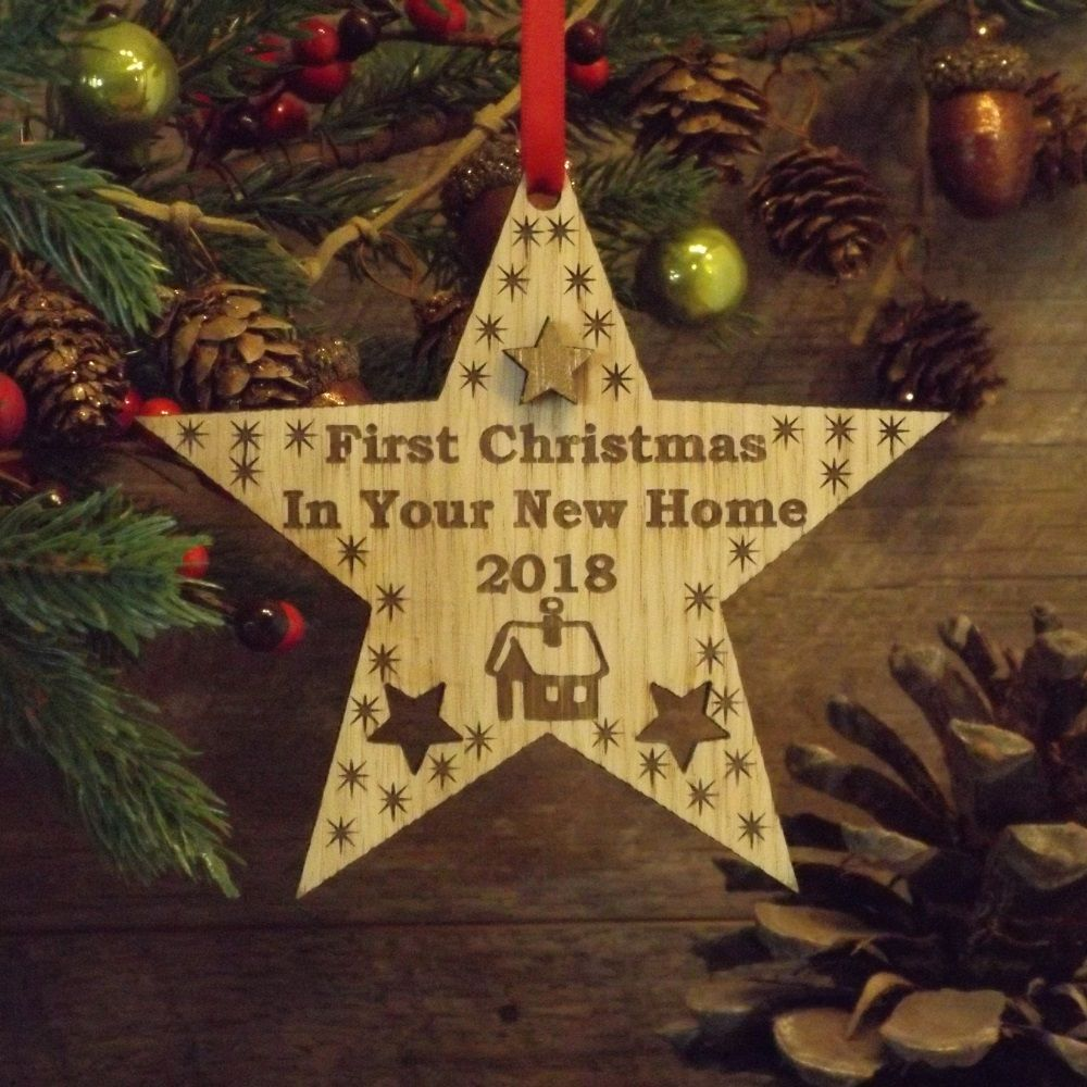 First 1st christmas in your new home star decoration for Star decorations for home